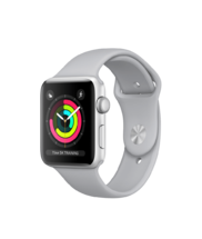 Apple Watch Silver Aluminum Case with Fog Sport Band 42mm Series 3 GPS