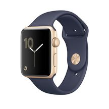 Gold Aluminum Midnight Blue Sport Band 42mm Series 2