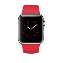 Watch Red Silver Sport band 38mm