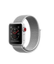 Apple Watch Silver Aluminum Case with Seashell Loop 38mm Series 3 GPS + Cellular