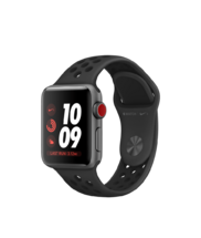 Apple Watch Gray Case with Anthracite/Black Nike Band 38mm Series 3 GPS + Cellular