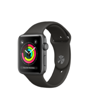 Apple Watch Space Gray Aluminum Case with Gray Sport Band 42mm Series 3 GPS