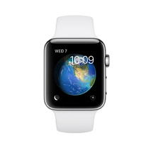 Stainless Steel Case White Sport Band 38mm Series 2