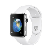 Stainless Steel White Sport Band 42mm Series 2