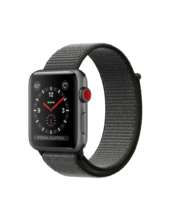 Apple Watch Gray Aluminum Case with Dark Olive Loop 42mm Series 3 GPS + Cellular
