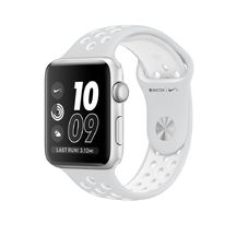 Silver Aluminum Pure Platinum/White Nike Sport 42mm Series 2