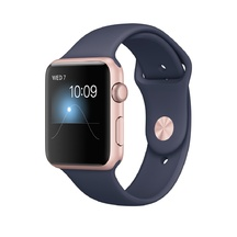 Rose Gold Aluminum Midnight Blue Sport Band 42mm Series 2