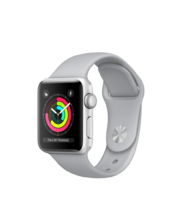 Apple Watch Silver Aluminum Case with Fog Sport Band 38mm Series 3 GPS