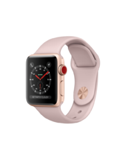 Apple Watch Gold Aluminum Case with Pink Sand Sport 38mm Series 3 GPS + Cellular