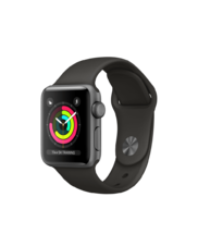 Apple Watch Space Gray Aluminum Case with Gray Sport Band 38mm Series 3 GPS
