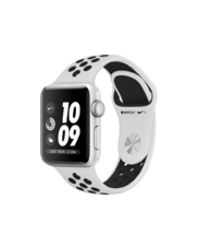 Apple Watch Silver Case with Pure Platinum/Black Nike Band 38mm Series 3 GPS