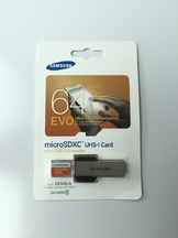 Micro SD Samsung 64GB with USB reader
