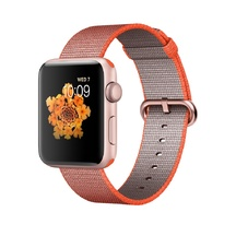 Rose Gold Aluminum Space Orange/Anthracite Woven Nylon 42mm Series 2