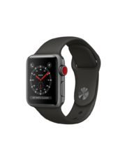 Apple Watch Gray Aluminum Case with Gray Band 38mm Series 3 GPS + Cellular