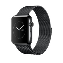Black Stainless Steel with Space Black Milanese Loop 38mm Series 2