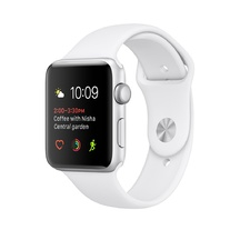 Silver Aluminum White Sport Band 42mm Series 1