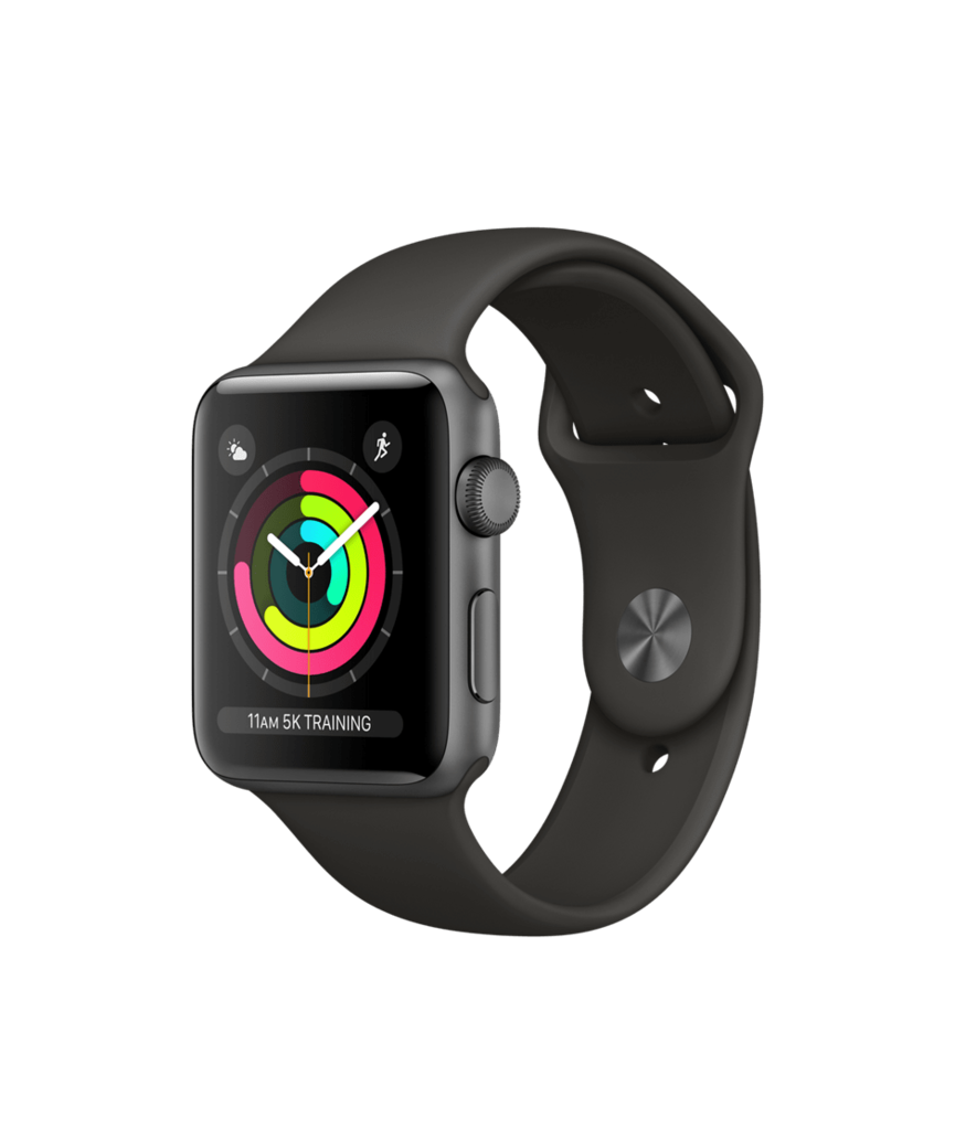 Apple Watch Space Gray Aluminum Case with Gray Band 42mm Series 3 GPS
