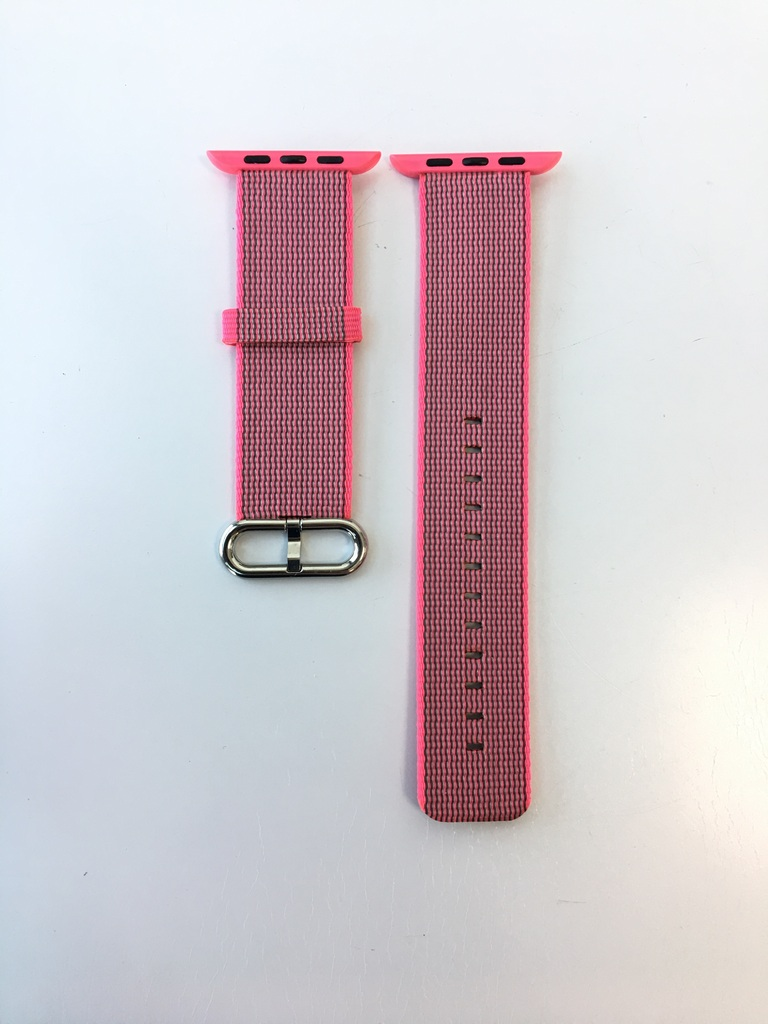 Каишка Apple Watch Pink Woven Nylon 42/44mm