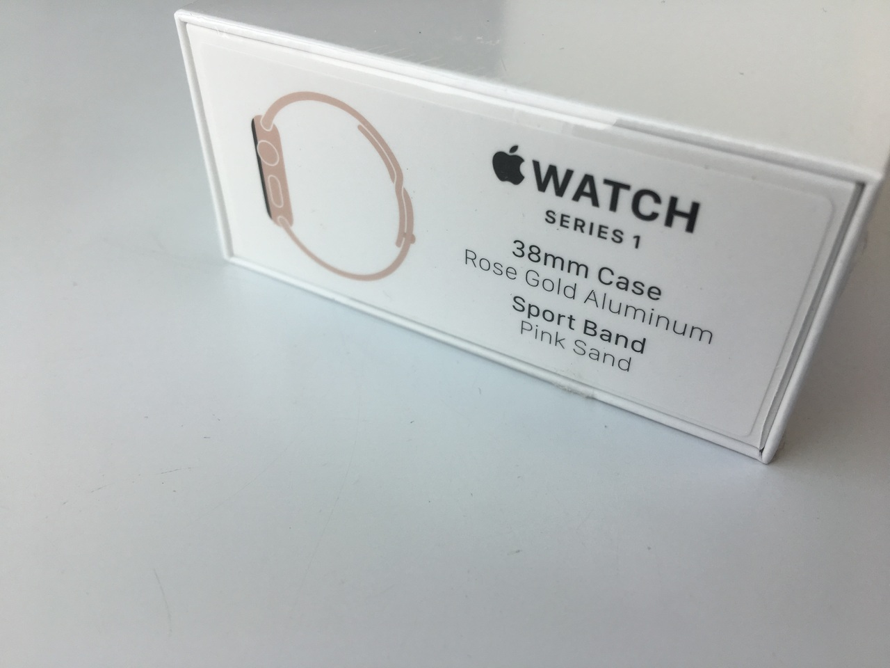 Apple Watch Rose Gold Aluminum Case With Pink Sand Sport Band 38mm 2 Series 1