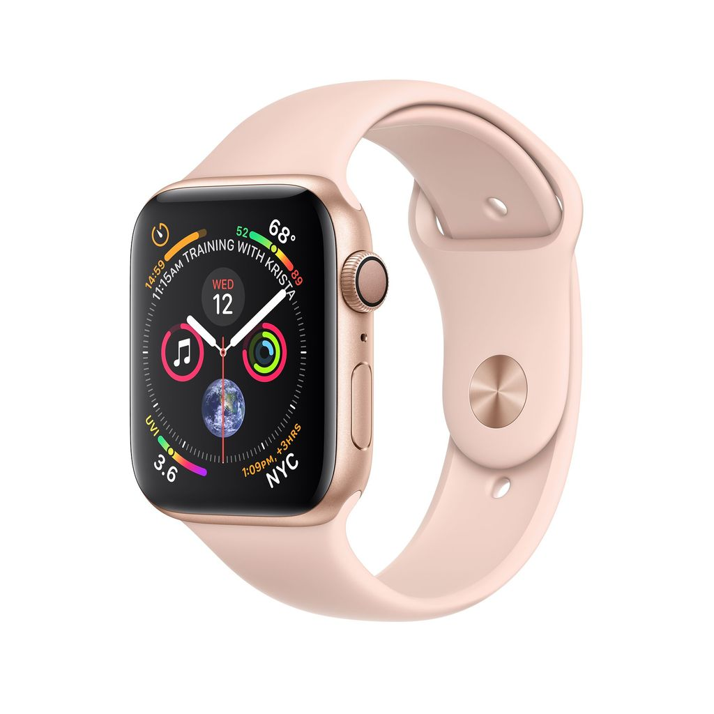 Apple Watch Gold Aluminum Case with Pink Sand Sport Band 40mm Series 4 GPS