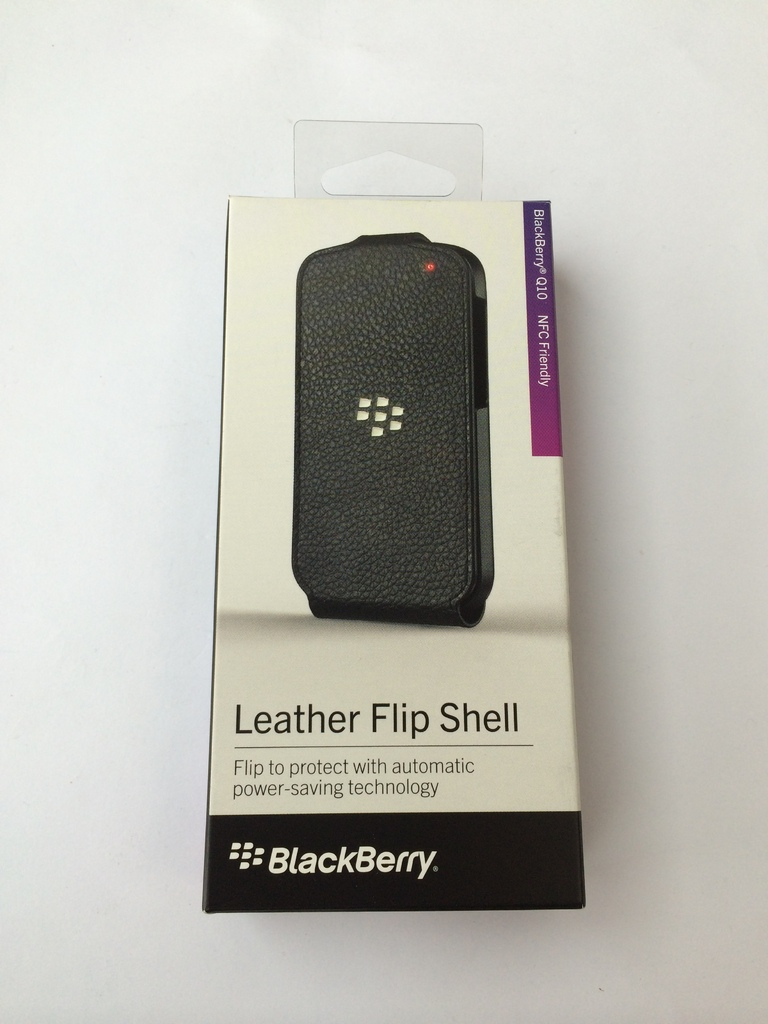 Leather Flip Shell калъф за BlackBerry Q10