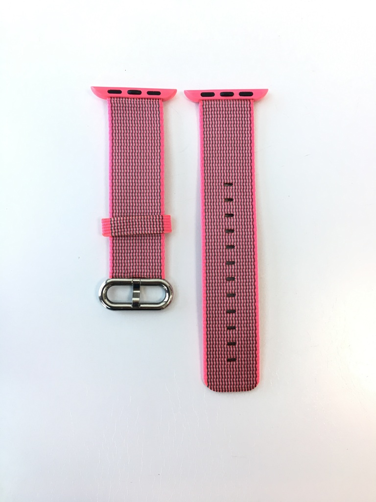 Каишка Apple Watch Pink Woven Nylon 38/40mm