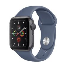 Apple Watch Space Gray Aluminum Case/Alaskan Blue Sport Band 44mm Series 5