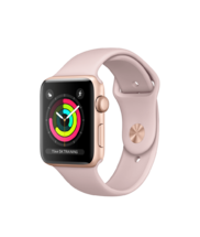 Apple Watch Gold Aluminum Case with Pink Sand Band 42mm Series 3 GPS