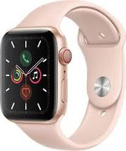 Apple Watch Gold Aluminum Case with Pink Sport Band 44mm Series 5 GPS + Cellular