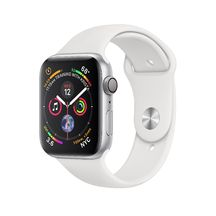 Apple Watch Silver Aluminum Case with White Sport Band 40mm Series 4 GPS