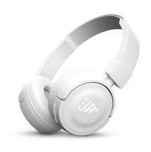 Bluetooth слушалки JBL T450BT headphones - white