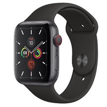 Apple Watch Space Gray Aluminum Case/Black Band 44mm Series 5 GPS + Cellular