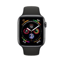 Apple Watch Space Gray Aluminum Case with Black Sport Band 44mm Series 4 GPS