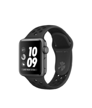Apple Watch Gray Case with Anthracite/Black Nike Band 38mm Series 3 GPS