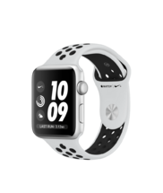 Apple Watch Silver Case with Pure Platinum/Black Nike Band 42mm Series 3 GPS