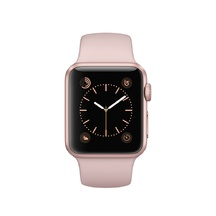 Rose Gold Aluminum Pink Sand Sport Band 38mm Series 2