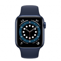 Apple Watch Blue Aluminum Case with Deep Navy Sport Band 44mm Series 6