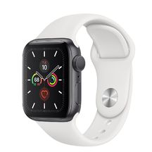 Apple Watch Space Gray Aluminum Case with White Sport Band 40mm Series 5