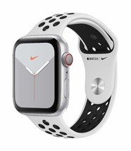 Apple Watch Nike Silver Case/Pure Platinum Black Sport Band 44mm Series 5 GPS + Cellular