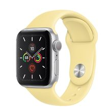Apple Watch Silver Aluminum Case/Lemon Cream Sport Band 44mm Series 5