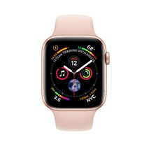 Apple Watch Gold Aluminum Case with Pink Sand Sport Band 44mm Series 4 GPS
