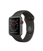 Apple Watch Gray Aluminum Case with Gray band 42mm Series 3 GPS + Cellular