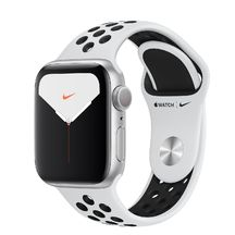 Apple Watch Nike Silver Case/Pure Platinum Black Sport Band 44mm Series 5