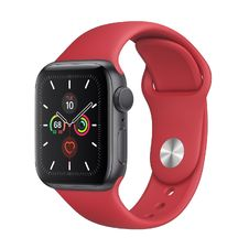 Apple Watch Space Gray Aluminum Case with RED Sport Band 44mm Series 5