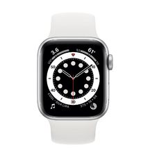 Apple Watch Silver Aluminum Case with White Sport Band 44mm Series 6