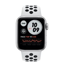 Apple Watch Silver Case with Nike Pure Platinum Sport band 44mm Series 6