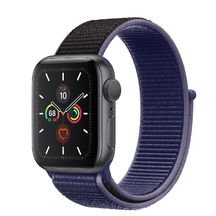 Apple Watch Space Gray Aluminum Case/Midnight Blue Sport Loop 44mm Series 5
