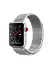 Apple Watch Silver Aluminum Case with Seashell Loop 42mm Series 3 GPS + Cellular