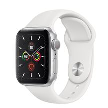 Apple Watch Silver Aluminum Case with White Sport Band 44mm Series 5