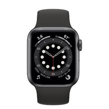 Apple Watch Space Gray Aluminum Case with Black Sport Band 44mm Series 6